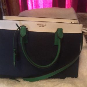 New with tags Kate spade blue green white bag sale